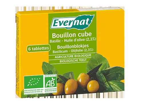 Bouillon Cube Basilic Huile d'Olive