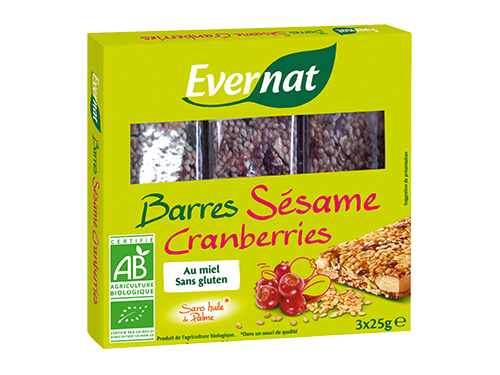 Barres Sésame Cranberries