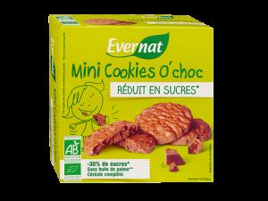 Mini Cookies O'Choc Réduit en Sucres