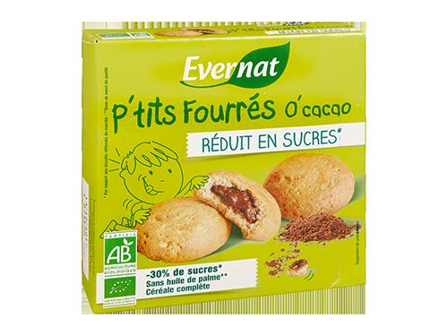 P'tits Fourrés O'Cacao Réduits en Sucres