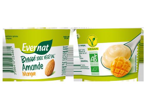 Dessert végétal fermenté amande mangue