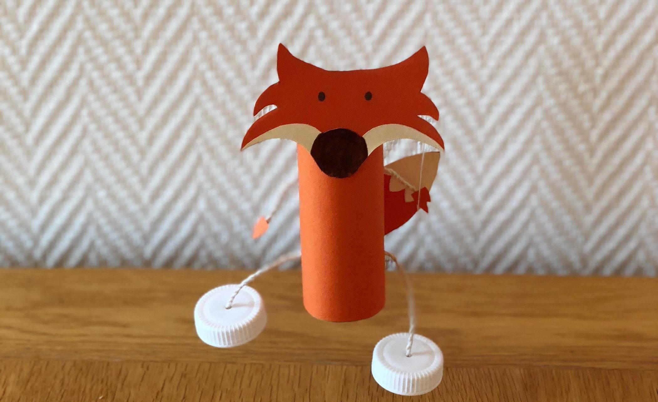 Fabriquer une marionnette renard