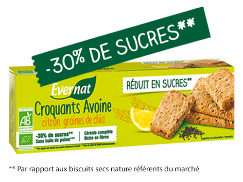 Croquants avoine citron graines de chia